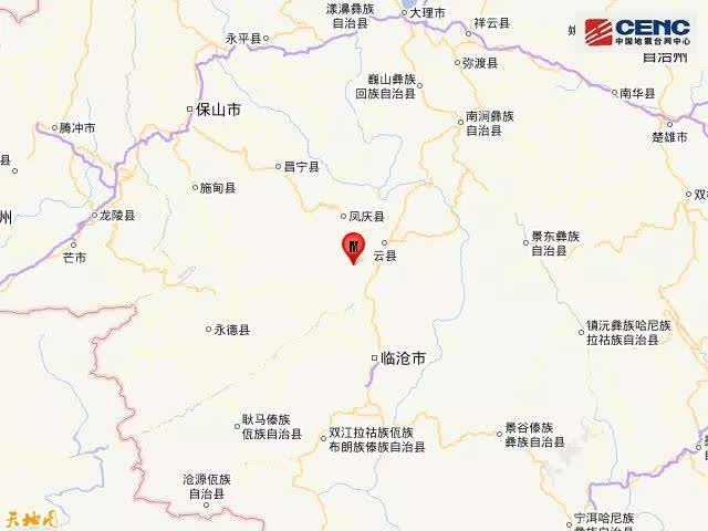 云南临沧市凤庆县发生3.5级地震